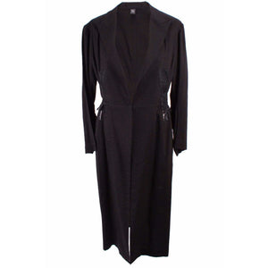 Yohji Yamamoto Womens Jackets + Coats JP 2 / Black Long Jacket