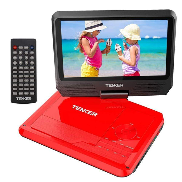 "TENKER 918F 9.5""DVD PLAYER (Red) - ValueLink Shop"