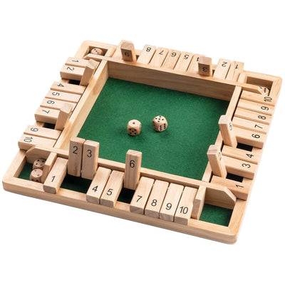 Traditional Shut The Box Board Game