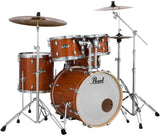Pearl Export Lacquer 5-piece Drumset Honey Amber Finish