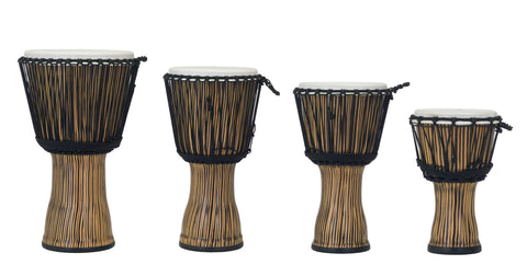 Pearl Synthetic Shell Djembe, Rope Tuned, Zebra Grass