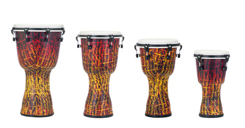 Pearl Synthetic Shell Djembe, Top Tuned, Tribal Fire
