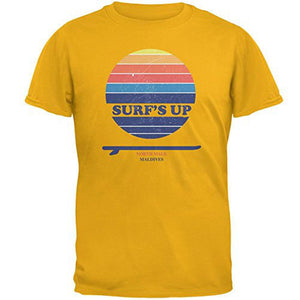Surf's Up North Male Maldives Mens T Shirt