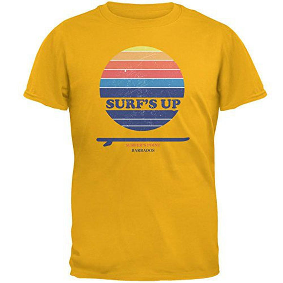Surf's Up Surfer's Point Barbados Mens T Shirt