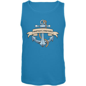 Anchor at Martha's Vineyard Mens Tank Top