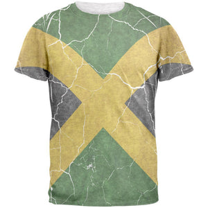 Distressed Jamaican Flag Mens T Shirt