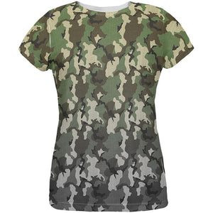 Faded Camo All Over Womens T Shirt