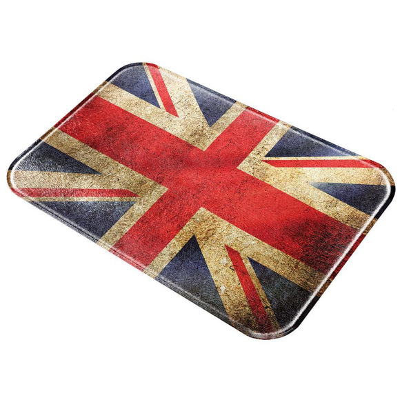 British Flag Union Jack Grunge Distressed All Over Glass Cutting Board