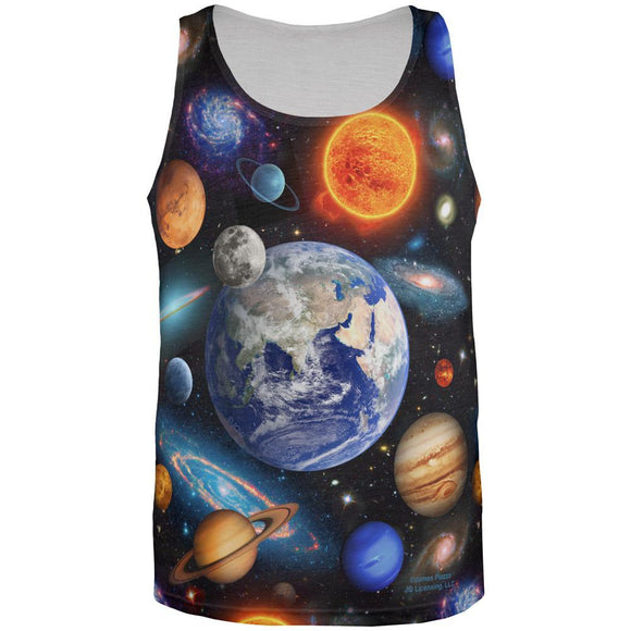 Galaxy Solar System All Over Mens Tank Top