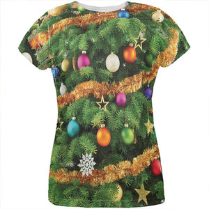 Christmas Tree Costume All Over Womens T Shirt