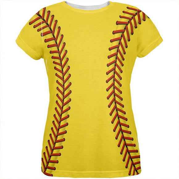 Softball Costume All Over Womens T Shirt