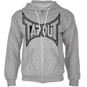 Tapout - Classic Black Logo Mens Zip-Up Hoodie
