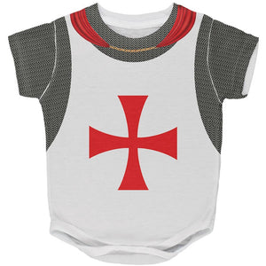 Halloween Knights Templar Armor Costume All Over Baby One Piece