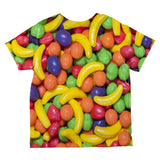 Halloween Fruit Candy All Over Toddler T Shirt