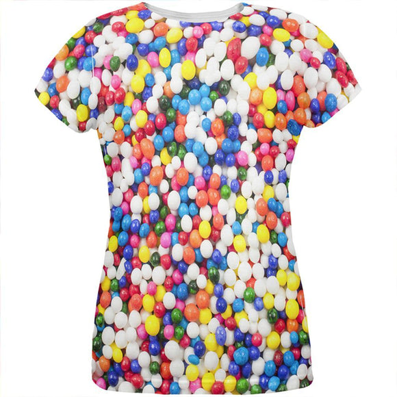 Halloween Sprinkles All Over Womens T Shirt