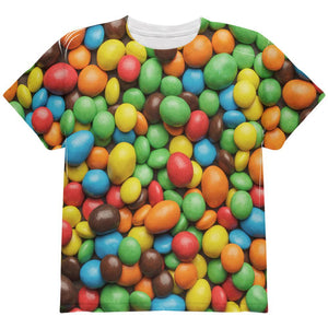 Halloween Candy Coated Chocolate All Over Youth T Shirt