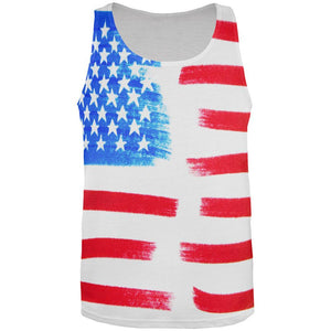 4th of July Color Me American All Over Mens Tank Top
