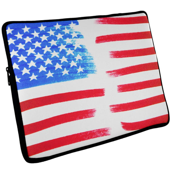 4th of July Color Me American Laptop Sleeve 17 inch