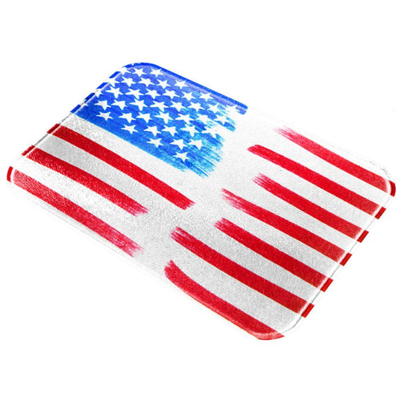 4th of July Color Me American All Over Glass Cutting Board