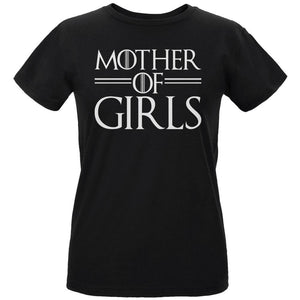 Mother's Day Mother Of Girls Womens Organic T Shirt