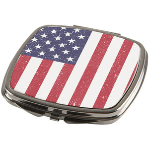 4th of July American Flag Distressed Compact