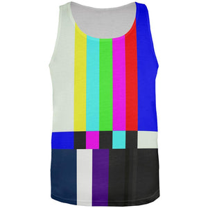 Halloween SMPTE Color Bars Late Night TV Costume All Over Mens Tank Top