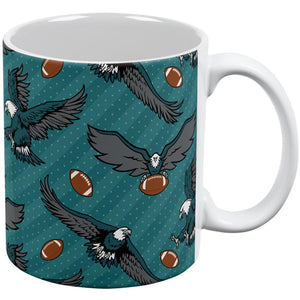 Fly Flying Eagle Eagles Football Repeat Pattern All Over Coffee Mug