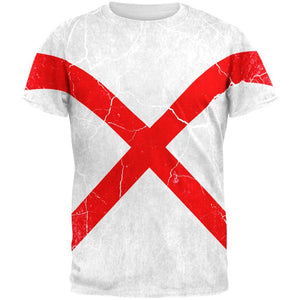Alabama Vintage Distressed State Flag All Over Mens T Shirt
