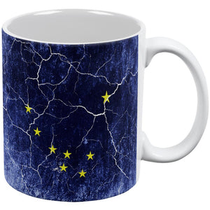 Alaska Vintage Distressed State Flag All Over Coffee Mug