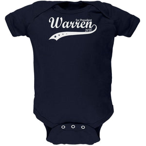 Election 2020 Elizabeth Warren For President Swoosh Soft Baby One Piece