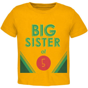 Crayon Big Sister of 5 Toddler T Shirt