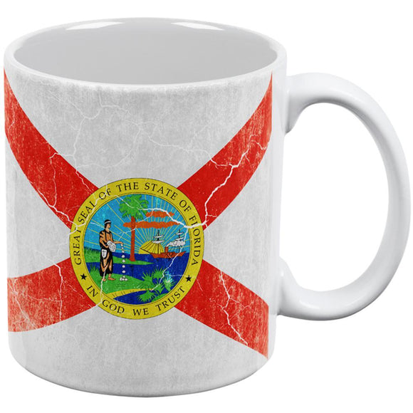 Florida Vintage Distressed State Flag All Over Coffee Mug