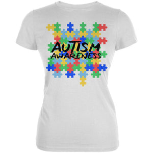 Autism Awareness Puzzle Pieces Juniors Soft T Shirt