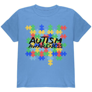 Autism Awareness Puzzle Pieces Youth T Shirt