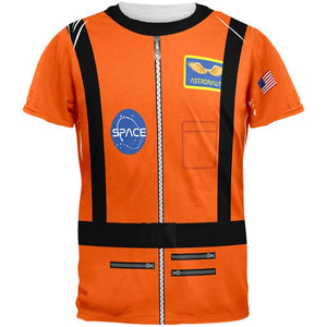 Halloween Astronaunt Costume Orange Escape Suit All Over Mens T Shirt