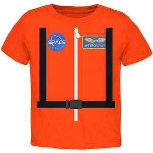 Halloween Astronaut Costume Orange Escape Suit Toddler T Shirt
