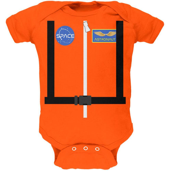 Halloween Astronaut Costume Orange Escape Suit Soft Baby One Piece