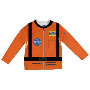 Halloween Astronaut Costume Orange Escape Suit All Over Toddler Long Sleeve T Shirt