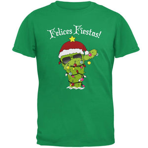 Christmas Dabbing Cactus Felices Fiestas Happy Holidays Mens T Shirt