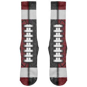 Fantasy Football Team Maroon and Black All Over Soft Socks