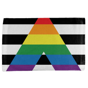 LGBT Straight Ally Pride Flag All Over Hand Towel
