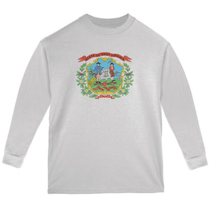 Born and Raised West Virginia State Flag Youth Long Sleeve T Shirt