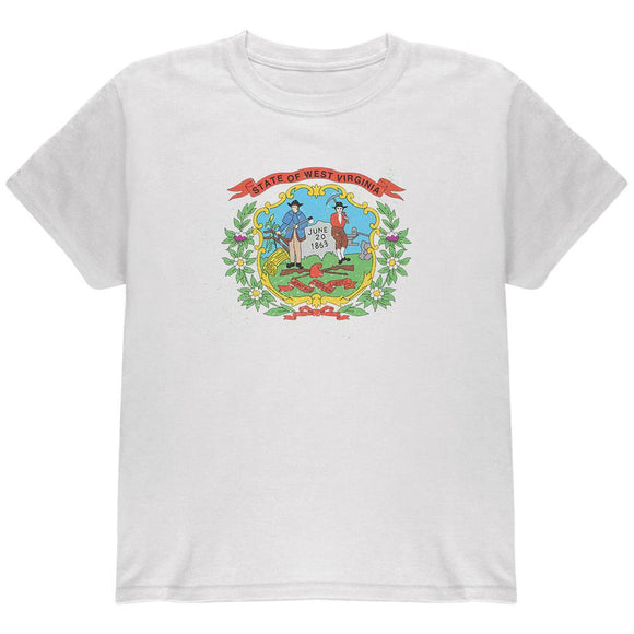 Born and Raised West Virginia State Flag Youth T Shirt