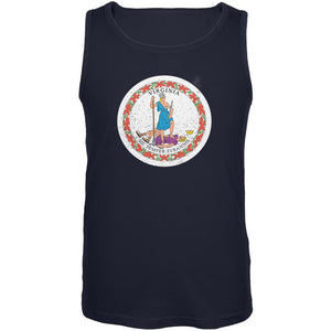 Born and Raised Virginia State Flag Mens Tank Top