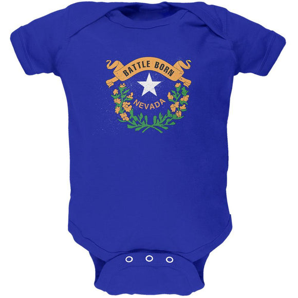 Born and Raised Nevada State Flag Soft Baby One Piece