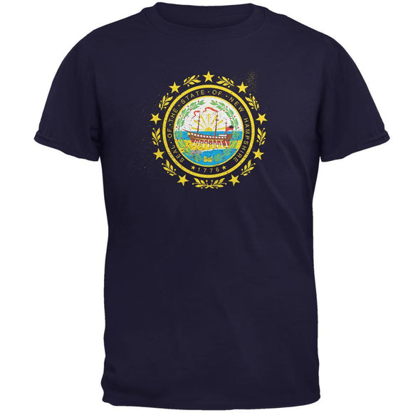 Born and Raised New Hampshire State Flag Mens T Shirt