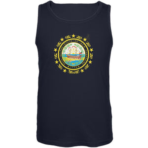 Born and Raised New Hampshire State Flag Mens Tank Top