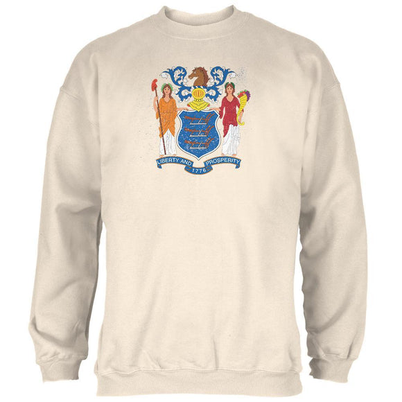 Born and Raised New Jersey State Flag Mens Sweatshirt