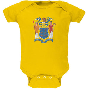 Born and Raised New Jersey State Flag Soft Baby One Piece