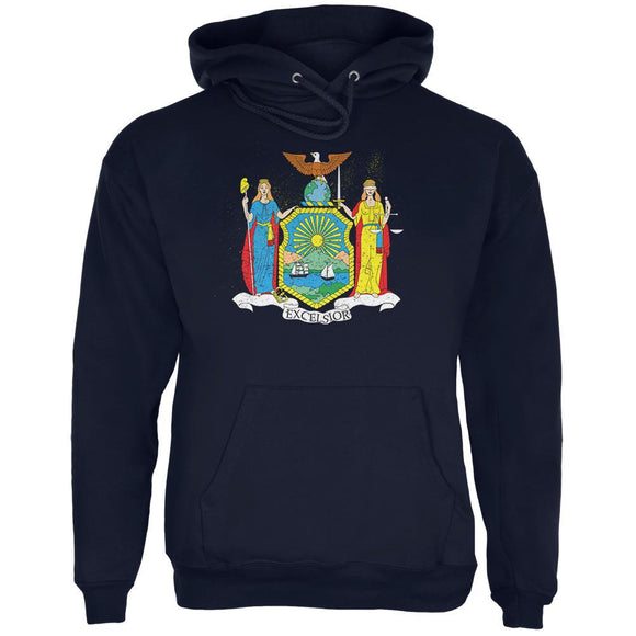 Born and Raised New York State Flag Mens Hoodie